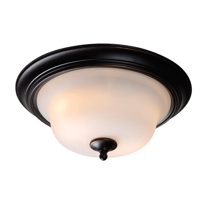 Basket 2-Light Flush Mount