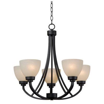 Rancourt 5-Light Shaded Chandelier