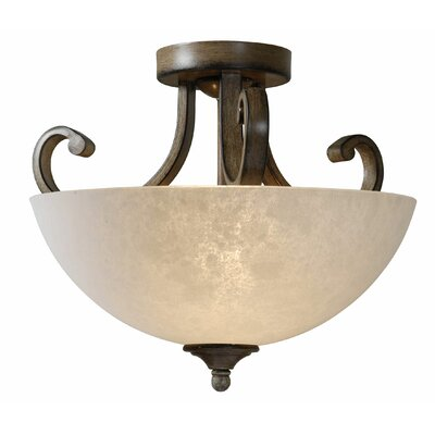 Dorset 2-Light Semi Flush Mount