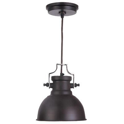 Jules 1-Light Mini Pendant Finish: Antique Bronze and Nickel