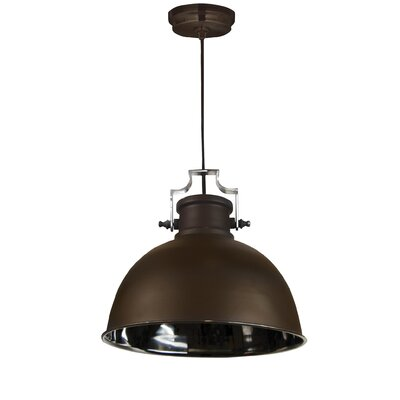 Shaeffer 1-Light Mini Pendant Finish: Antique Bronze and Nickel