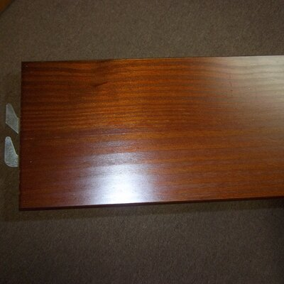 Wooden Bed Rails Size: King, Color: Medium Brown