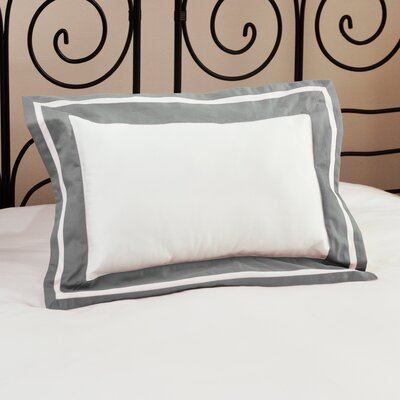 Inlay ed Decorative Cotton Lumbar Pillow Color: Platinum Gray