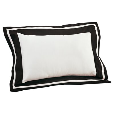 Inlay ed Decorative Cotton Lumbar Pillow Color: Black