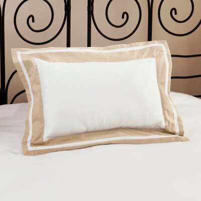 Inlay ed Decorative Cotton Lumbar Pillow Color: Ecru