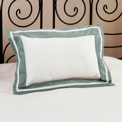Inlay ed Decorative Cotton Lumbar Pillow Color: Teal
