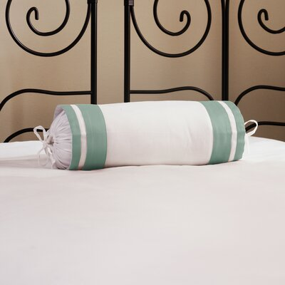 Inlay ed Neck Roll Cotton Bolster Color: Teal