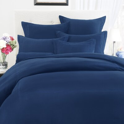 Baratto 3 Piece Duvet Set Size: Queen, Color: Navy