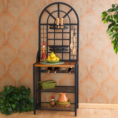 Wallace Bakers Rack in Black
