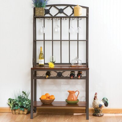 Marabella Decorative Bakers Rack with Wine Storage