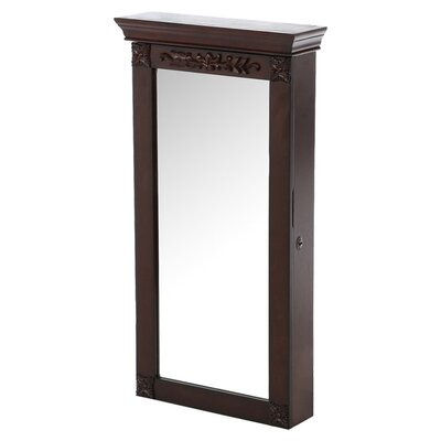 Franklin Wall Mount Jewelry Armoire with Mirror