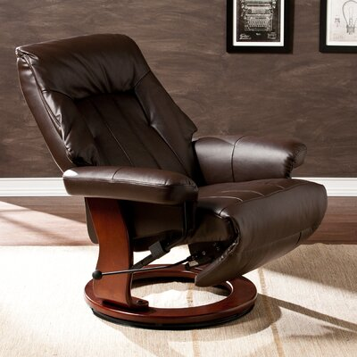 Newton Manual Swivel Recliner With Ottoman