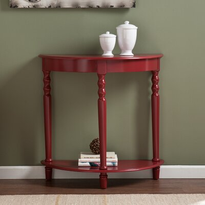 Elmhurst Console Table Color: Red