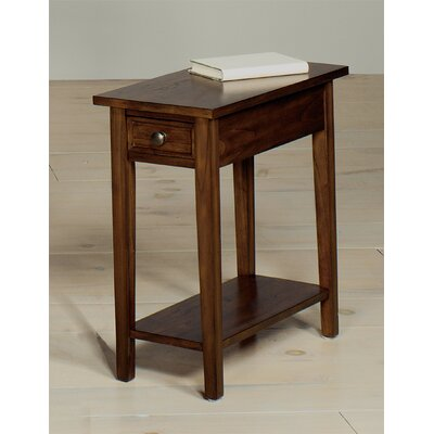 Goodwin Chairside Table Color: Walnut