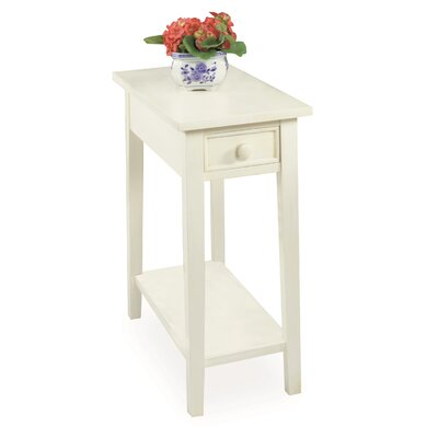 Goodwin Chairside Table Color: Off White