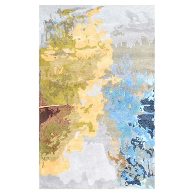 Devin Blue/Yellow Area Rug Rug Size: 8 x 11