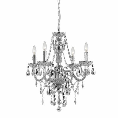 Beauvais 4-Light Crystal Chandelier Finish: Silver