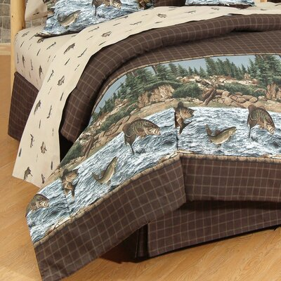River Fishing 4 Piece Sheet Set Size: Twin