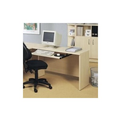 600 Series 29.5 H x 47.25 W Reversible Desk Return Finish: Light Maple