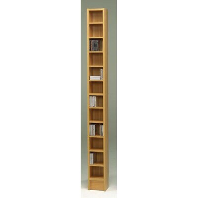 CD Multimedia 12-Shelf Storage Rack Color: Beech