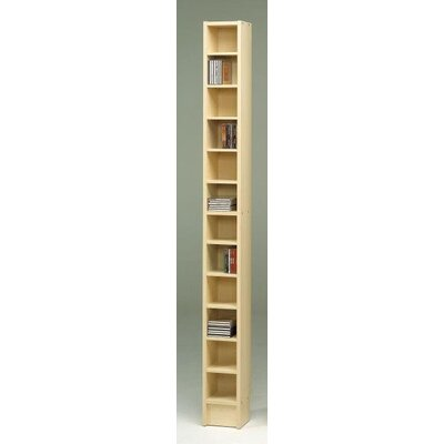 CD Multimedia 12-Shelf Storage Rack Color: Light Maple