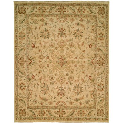 Dubai Hand-Knotted Beige Area Rug Rug Size: 9 x 12