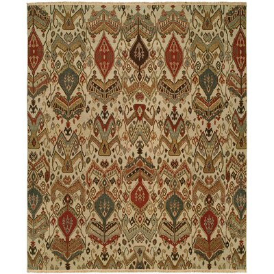 Shuwaikh Hand-Woven Ivory/Red Area Rug Rug Size: Rectangle 5' x 7'