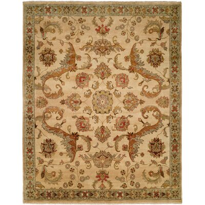 Jebel Hand-Knotted Ivory Area Rug Rug Size: 10 x 14