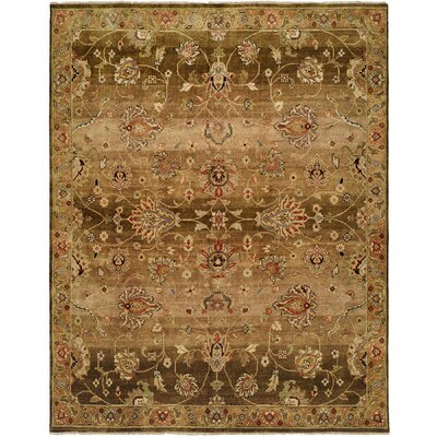 Bahrain Hand-Knotted Brown Area Rug Rug Size: 5 x 7