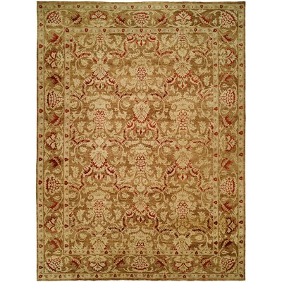 Mina Hand-Knotted Brown/Ivory Area Rug Rug Size: Runner 26 x 10