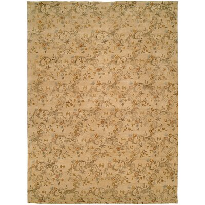 Salman Hand-Knotted Beige Area Rug Rug Size: 6 x 9