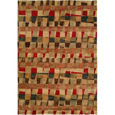 Manama Hand-Knotted Red/Brown Area Rug Rug Size: 10 x 14