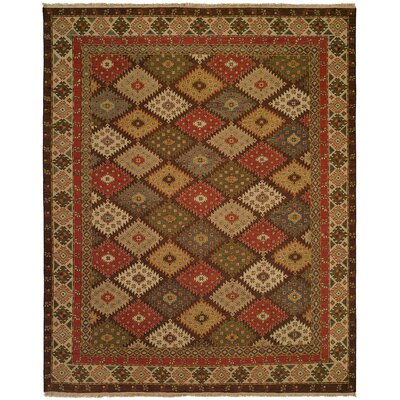 Qasr Hand-Woven Red/Brown Area Rug Rug Size: 12 x 18