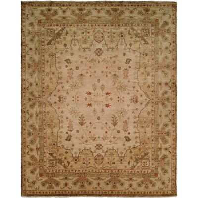 Melbourne Hand-Knotted Beige Area Rug Rug Size: Rectangle 4 x 6