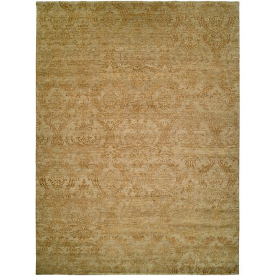 Hurghada Hand-Knotted Beige Area Rug Rug Size: Rectangle 9 x 12