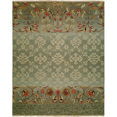 Jizan Hand-Woven Blue Area Rug Rug Size: Rectangle 5 x 7