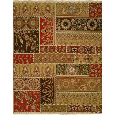 Sudan Hand-Woven Brown/Red Area Rug Rug Size: 10 x 14