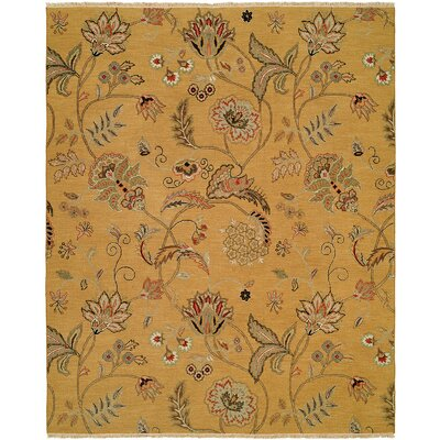 Yanbu Hand-Woven Beige Area Rug Rug Size: Rectangle 4 x 6