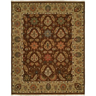 Acapulco Hand-Woven Brown/Camel Area Rug Rug Size: Rectangle 9 x 12
