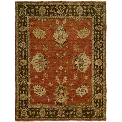 Callao Hand-Knotted Brown/Red Area Rug Rug Size: 4 x 6