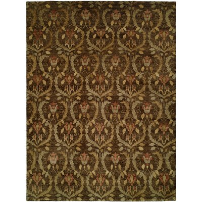 Corinto Hand-Knotted Brown Area Rug Rug Size: 2 x 3