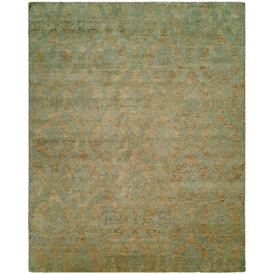 Nicaragua Hand-Knotted Brown/Blue Area Rug Rug Size: Square 8
