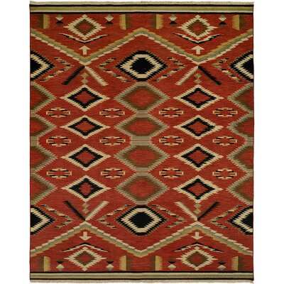 Coquimbo Hand-Woven Red Area Rug Rug Size: Rectangle 4 x 10