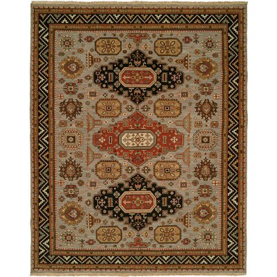 Eureka Hand-Woven Brown/Black Area Rug Rug Size: 12 x 18