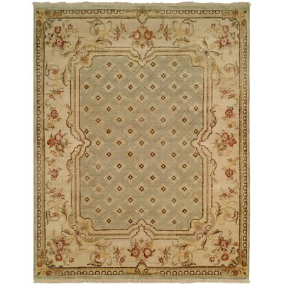 Fraser Hand-Knotted Light Blue/Brown Area Rug Rug Size: 12 x 18