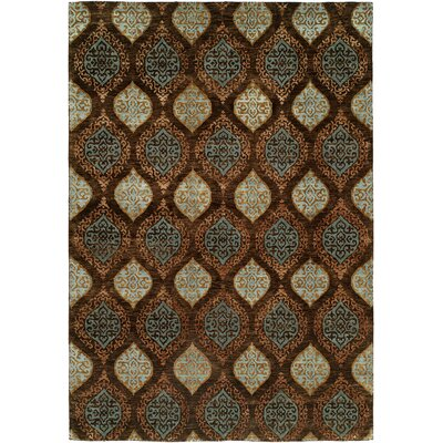 Guayaquil Hand-Knotted Brown/Ivory Area Rug Rug Size: Rectangle 9 x 12