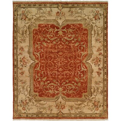 Honolulu Hand-Knotted Rust/Ivory Area Rug Rug Size: Runner 26 x 10