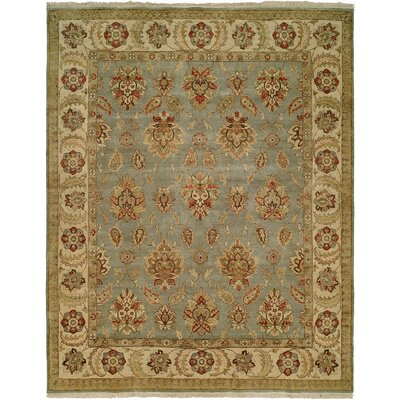 Lyttelton Hand-Knotted Blue/Brown Area Rug Rug Size: 9 x 12