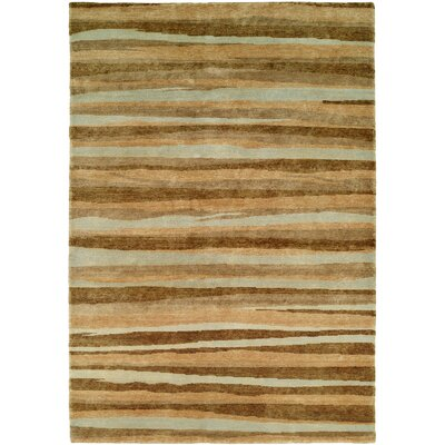 Panama Hand-Knotted Brown/Gray Area Rug Rug Size: 10 x 14
