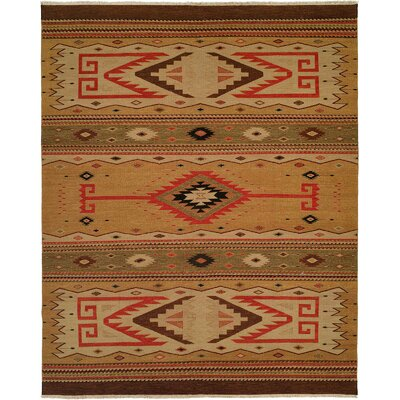 Metro Hand-Woven Beige/Brown Area Rug Rug Size: Rectangle 8 x 10